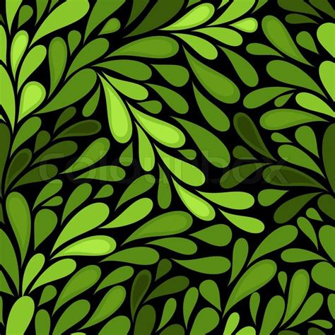 seamless pattern wiki dark seamless pattern with green leaves vector stock