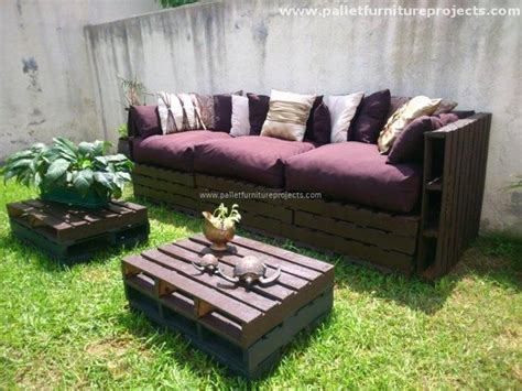 patio garden pallet with coffee table pallet