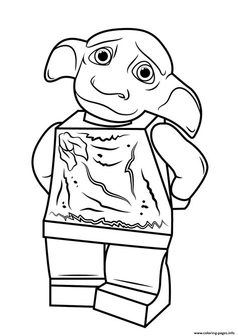 harry potter coloring pages pdf lego harry potter dobby coloring pages printable