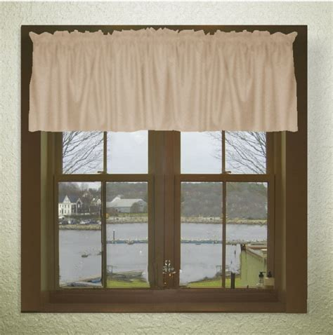 Beige Curtains With Valance Solid Beige Color Valance In Many Lengths Custom Size