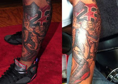 does michael jordan have tattoos jordans on