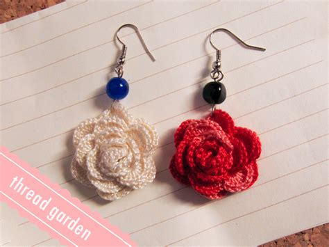 What Do You Think Of These Crocheted Earrings by Blooming Crochet Earrings By Pandatama On Deviantart