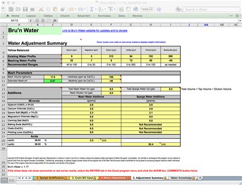 xl spreadsheet tutorial bru n water spreadsheet tutorial 1 17 free edition