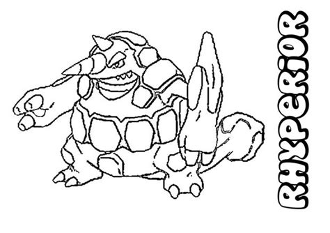 pokemon coloring pages rhyperior rhyperior coloring pages hellokids com