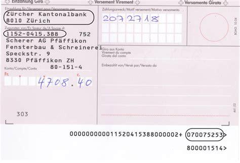 bank suchen iban roter einzahlungsschein auf eine bank