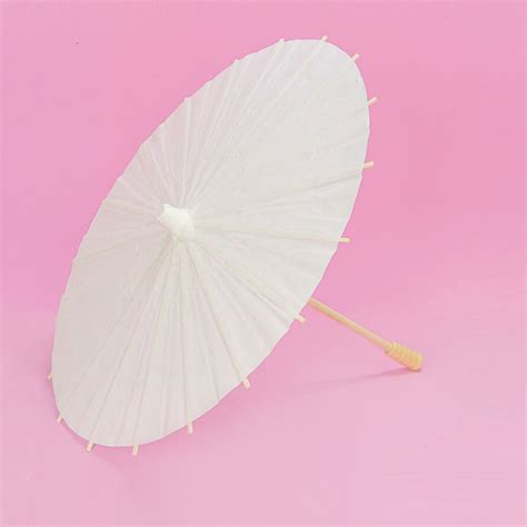 How To Make A Small Paper Umbrella - cheap 12 small white paper umbrella craft for wedding for