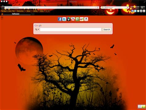 firefox themes halloween halloween interactive persona browser theme chrome