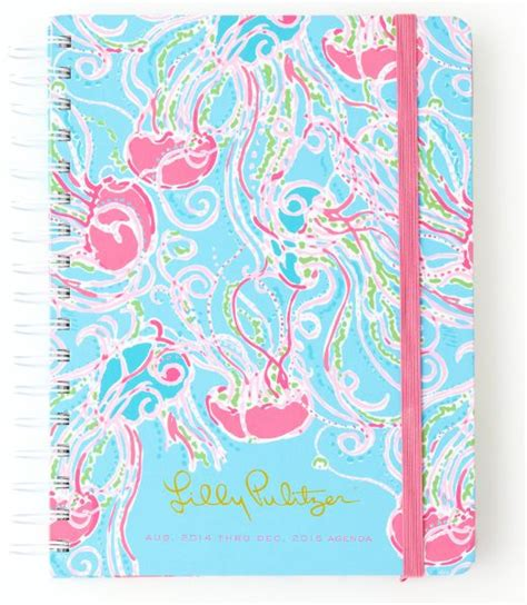 lilly pulitzer desk accessories lilly pulitzer large agenda in jellies be jammin lilly