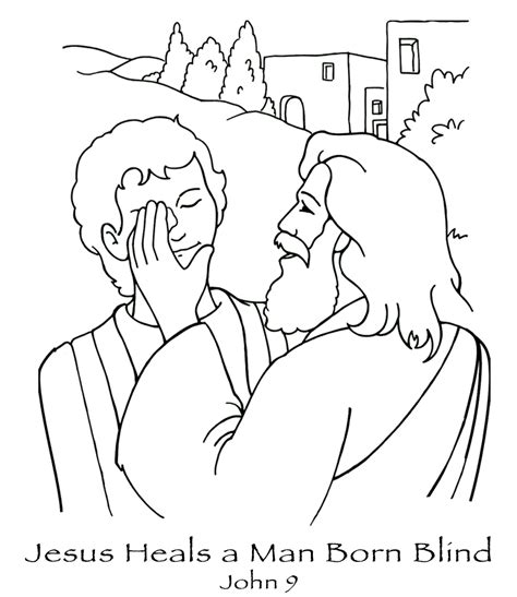 coloring pages jesus heals the sick free coloring pages printable jesus heals the blind man