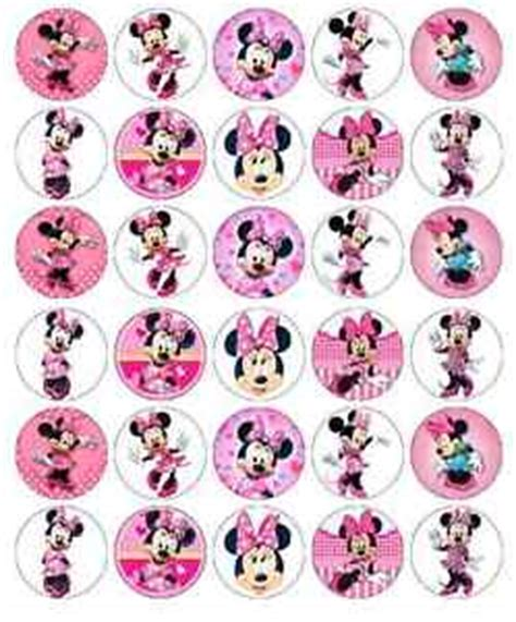 Rd Celana Wafer Pink minnie mouse disney cupcake toppers edible wafer paper buy 2 get 3rd free ebay
