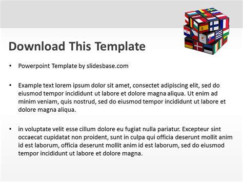 templates powerpoint european union european union cube powerpoint template slidesbase