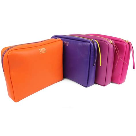 Sundance Big Makeup Pouch Wave leather make up bag at undercover colourful