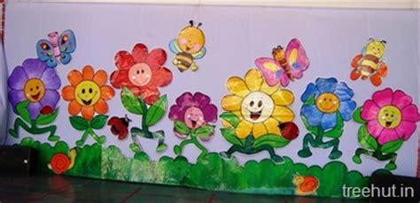 school stage decoration flowers backdrop