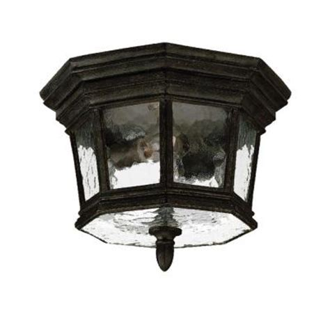 Discontinued Outdoor Lighting Acclaim Lighting Barrington Collection Ceiling Mount 2 Light Outdoor Black Coral Light Fixture