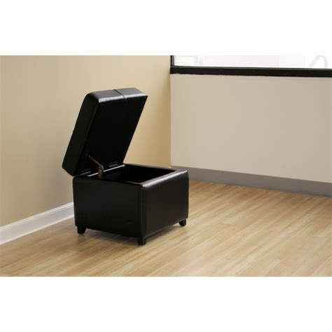 black leather storage cube black full leather storage cube ottoman see white