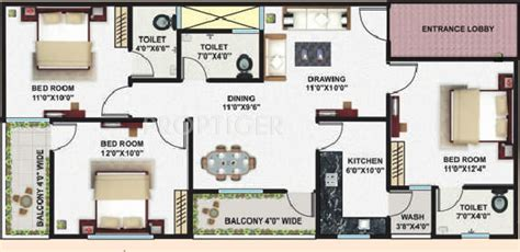 1200 square foot apartment 1200 sq ft 3 bhk 3t apartment for sale in sheetal group