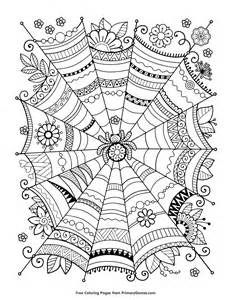 halloween coloring zentangle spider primarygames play free games