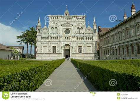 monastero pavia monastero famoso di pavia italia fotografia stock