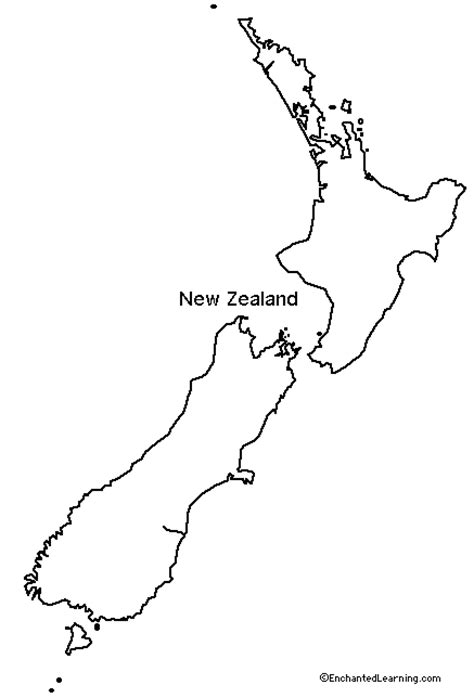 template of new zealand map outline map research activity 1 new zealand