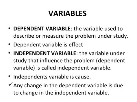 exle of dependent variable reliability and validity1
