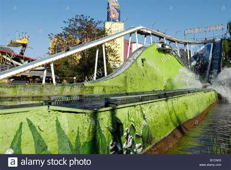 theme park vienna amusement park vienna prater water slide austria stock