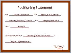 positioning statement template updated creating a product positioning statement
