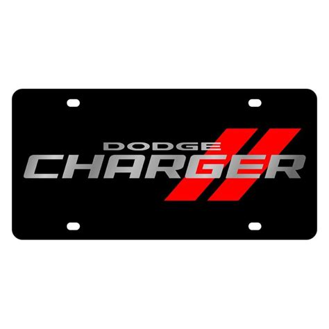 logo dodge charger eurosport daytona 2473n 1 black license plate with dodge