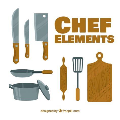 cucina con gratis elementi da cucina con design piatto scaricare vettori