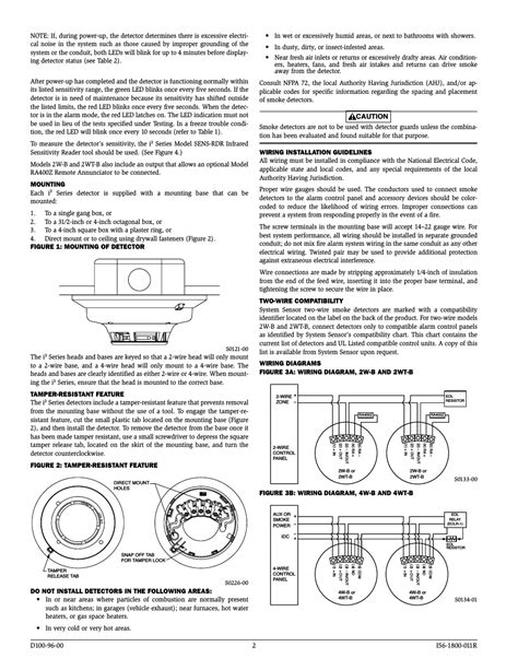 wired smoke detector wiring diagram