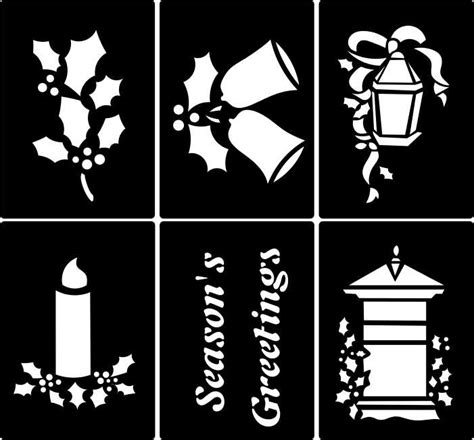 window stencils buy stencils for card design and window decoration