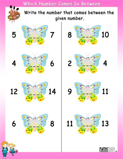 pattern between numbers numbers ukg math worksheets page numbers best free