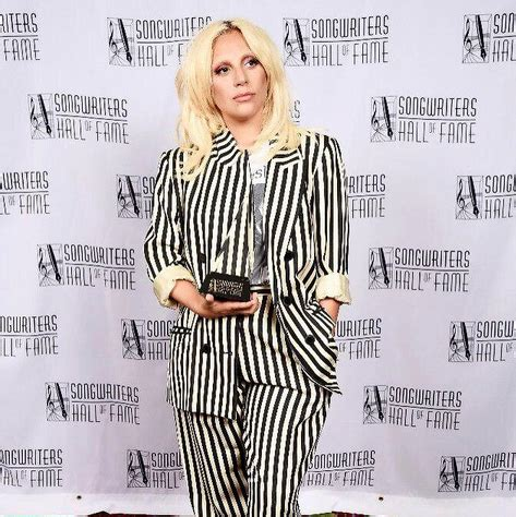 lady gaga accepts contemporary icon award in bra and the songwriters hall of fame hosts its annual ceremony