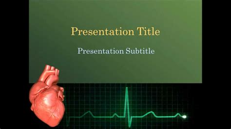 Animated Cardiology Powerpoint Template Youtube Cardiology Powerpoint Template