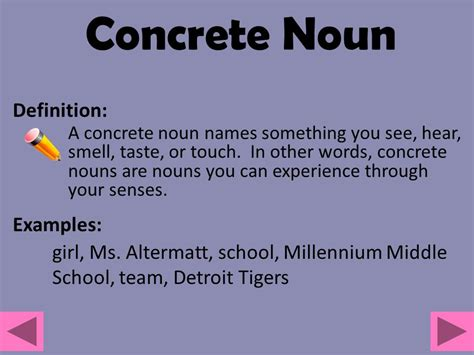 abstract nouns definition introducing parts of speech ppt