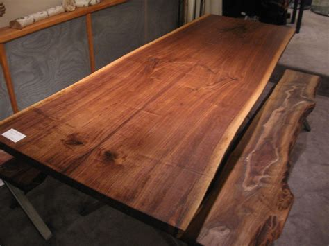 live edge slab dining room table handmade walnut live edge slab x base table by woodrich