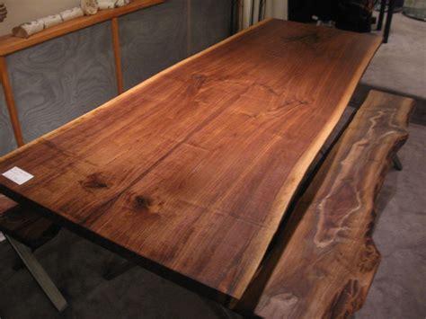 Handmade Walnut Live Edge Slab X Base Table by Woodrich   CustomMade.com