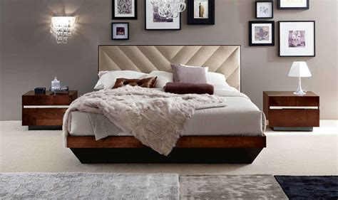 alf roma italian modern walnut eastern king bedroom set