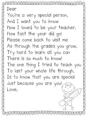 thank you letter to pre k end of year letter from by andrew year