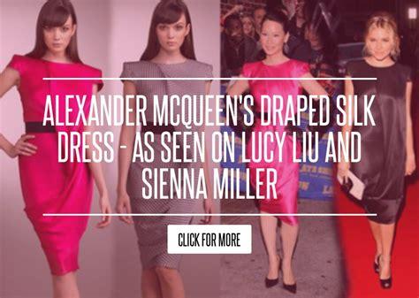 In Lius Closet Mcqueen by Mcqueen S Draped Silk Dress As Seen On