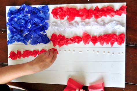 4th Of July Paper Crafts - 4th of july tissue paper craft for blissfully domestic