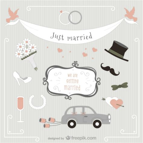 Just Married Auto Zum Ausdrucken by Just Married Pack Vector Free Download