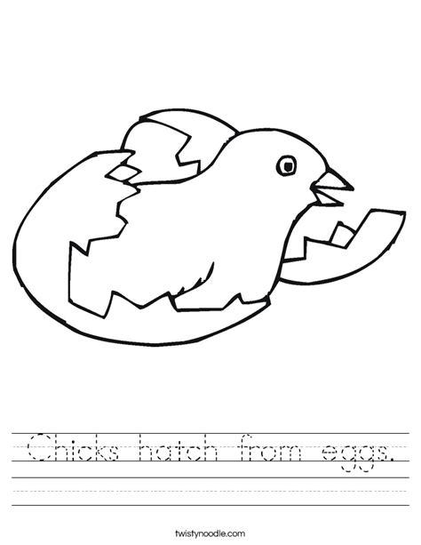 hatch from eggs worksheet twisty noodle