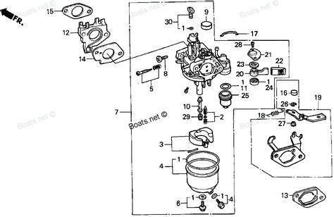 snowblower carburetor diagram honda hs50 snowblower parts diagram hs55 honda snowblower