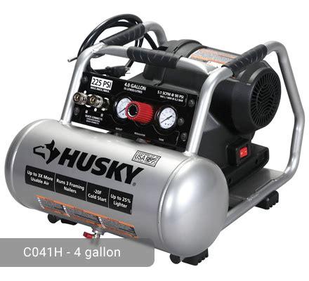 husky 4 gallon air compressor c041h 225 psi high performance
