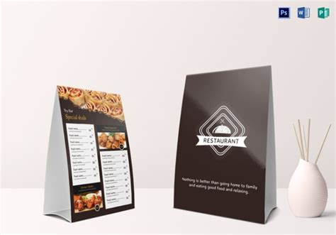 free tent card design template 14 restaurant tent card designs templates psd ai