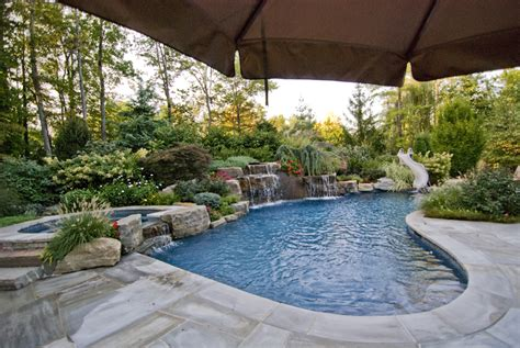 landscape ideas around pool landscaping ideas by nj custom pool backyard design expert