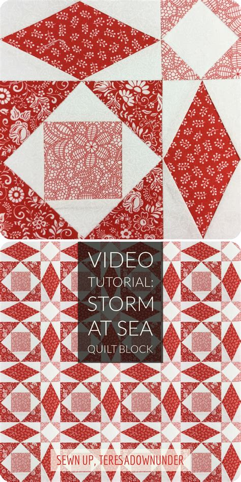 video tutorial storm at sea quilt block version 1 sewn up