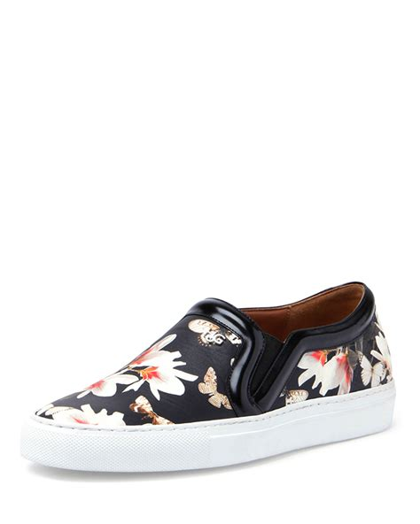 floral sneaker givenchy floral print slip on sneaker in black lyst