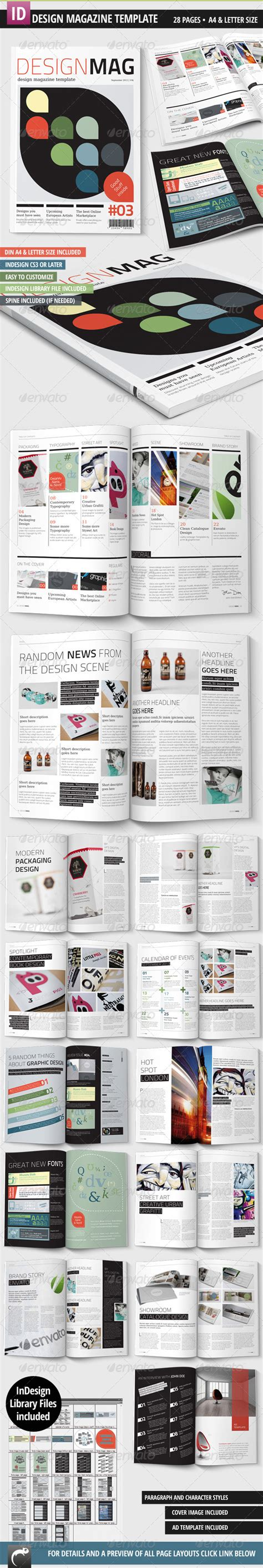 magazine layout template graphicriver design magazine template a4 letter 28 pages