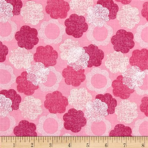 Pink Floral Upholstery Fabric by Hootenanny Floral Pink Discount Designer Fabric Fabric